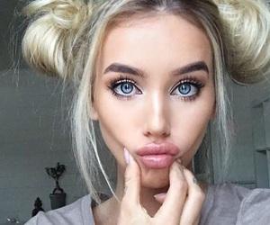 blonde, blue eyes, and icon image