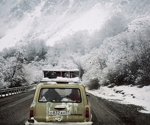 snow, winter, and car image