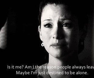 alone, quote, and grey's anatomy image