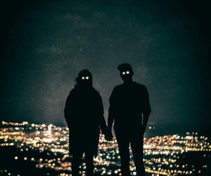 together, city, and lights image