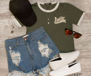 fashion, outfit, and short image
