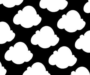 black, clouds, and white image