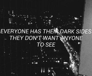 quote, thoughts, and Darkness image