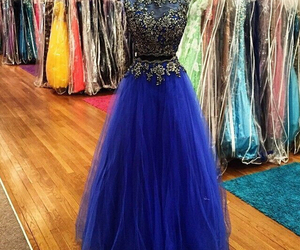 azul, blue, and dress image