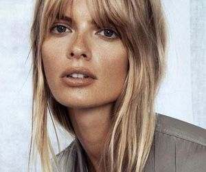 bangs, blonde, and hairstyle image