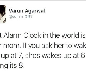 funny, mom, and alarm image