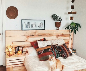 cat, bedroom, and home image