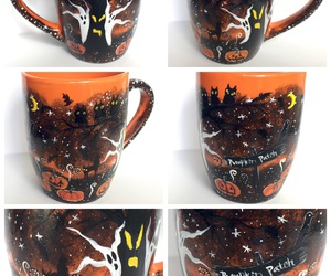 coffee mugs, etsy, and ghosts image