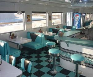 diner, vintage, and interior image
