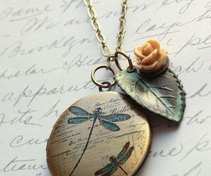 accessory, dragonfly, and necklace image
