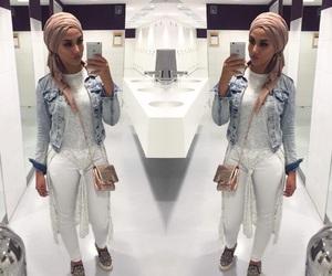 fashion, hijab, and woman girl image
