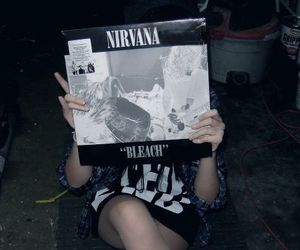 nirvana, grunge, and bleach image