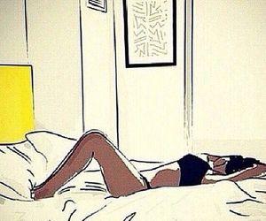 arte, bed, and desenho image