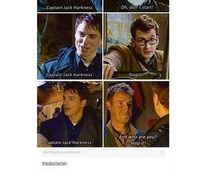 10, captain jack harkness, and david tennant image