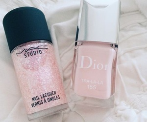 pink, makeup, and nails image