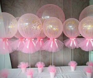 party, pink, and globos image