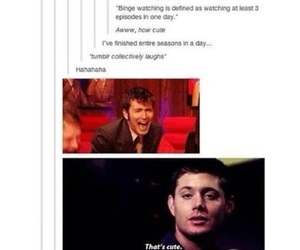 david tennant, doctor who, and dean winchester image