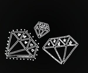 diamond, black and white, and overlay image