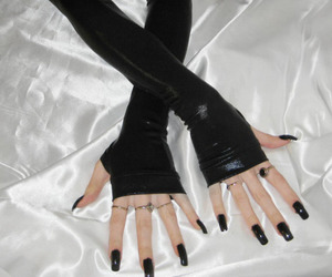 alternative, gloves, and pale image