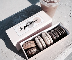 macaroons, coffee, and food image