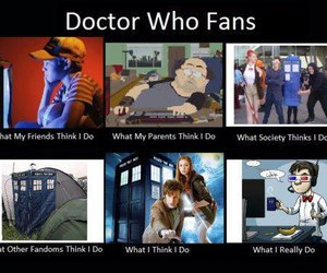 doctor who, fans, and fandom image