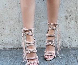 beige, fashion, and strap up image