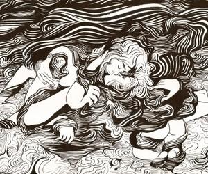 art, feminine, and mermaids image