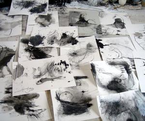 art, grunge, and black image