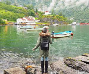 adventure, travel, and fjord image