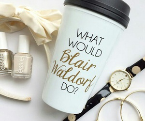 gossip girl, blair waldorf, and coffee image