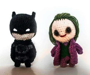 batman, joker, and cute image