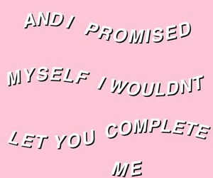 pink, quote, and song image