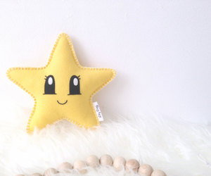 etsy, baby decor, and star pillow image