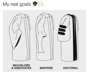 goals, college, and degree image