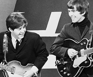george harrison, Paul McCartney, and the beatles image