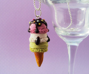etsy, ice cream necklace, and mint image