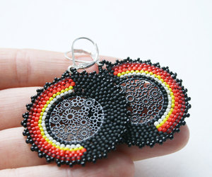 etsy, ooak, and lace earrings image