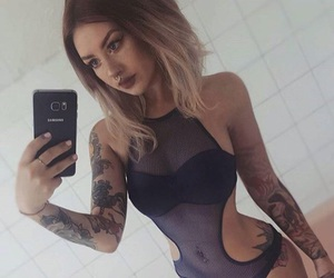 hair, inked, and sexy image