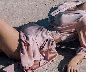 girl, pink, and shirt image