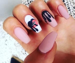 nails, lip kit, and kylie image