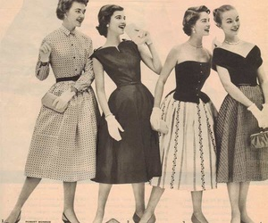 vintage, 50s, and dress image