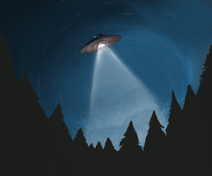 light, night, and ufo image