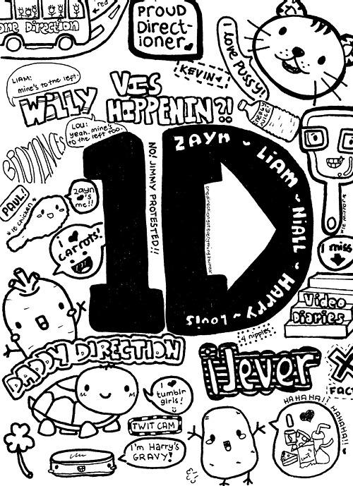 325 Images About Dibujos De One Direction On We Heart It See More About One Direction Draw And 1d