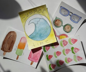 art, watercolorart, and August image
