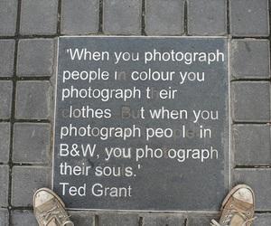 b&w, saying, and photography image