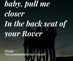 closer, music, and halsey image