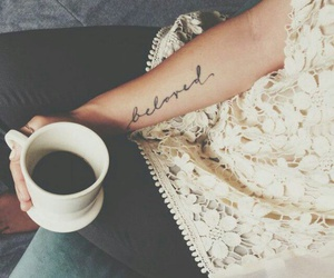 tattoo, coffee, and beloved image