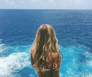 blue, ocean, and girl image