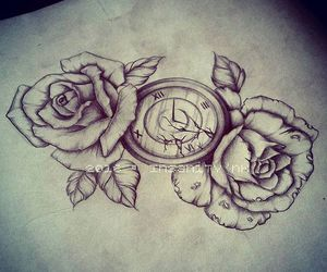 clock, destroy, and tattoosketch image