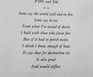 aesthetic, black and white, and fire and ice image